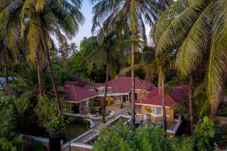 Aerial View of Best Villa in Mumbai, amã Stays & Trails Beach House Madh Island, Mumbai