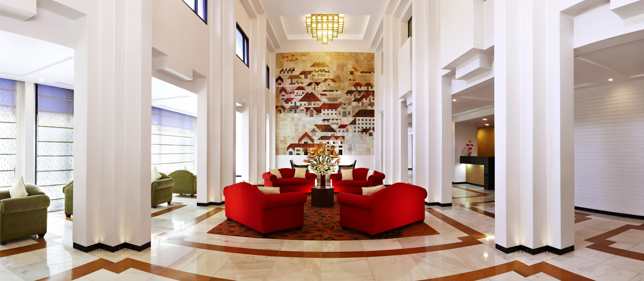 Palatial Lobby at The Gateway Hotel Old Port Road Mangalore