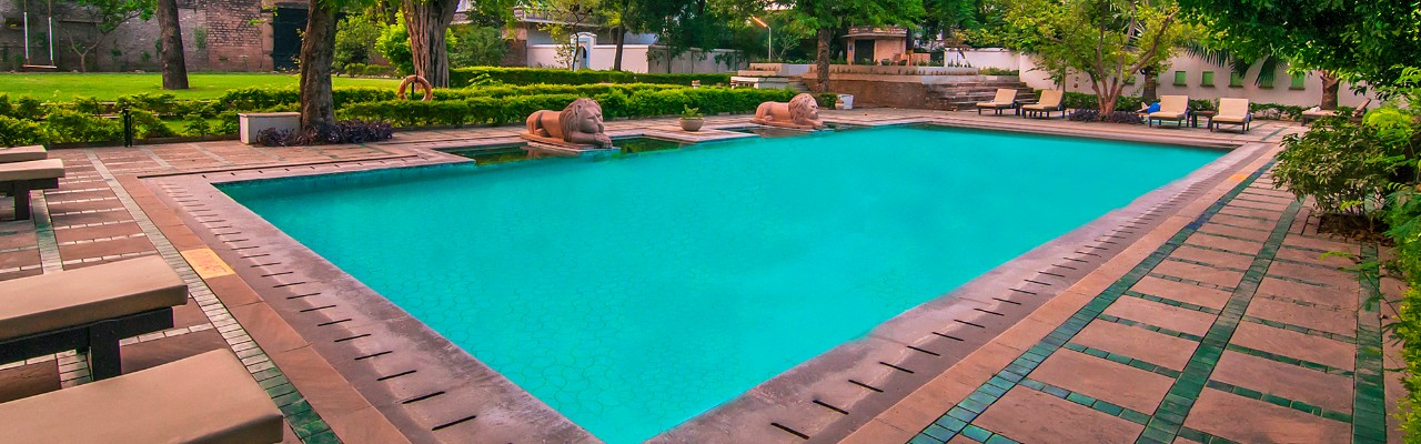 Swimming Pool at Taj Usha Kiran Palace, Gwalior