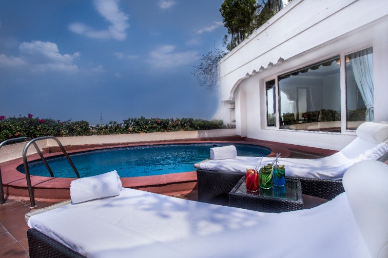 Presidential Suite Terrace Plunge Pool - Taj Krishna, Hyderabad
