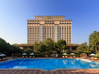 Exterior View with Luxury Pool at Taj Mahal, New Delhi