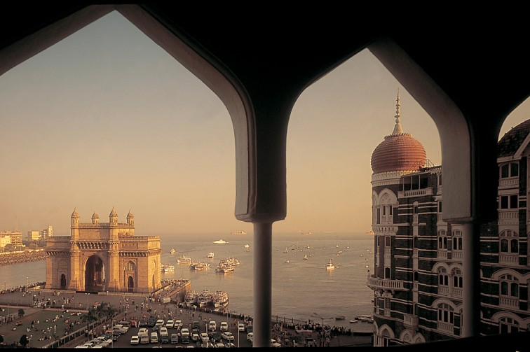 View of the Gateway of India from The Taj Mahal Palace Mumbai