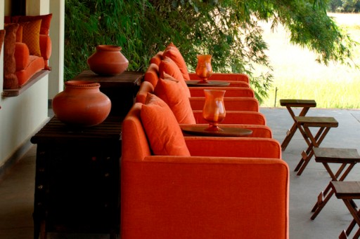 Outdoor Lounge Area at Mahua Kothi