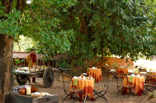 Outdoor Dining at Mahua Kothi