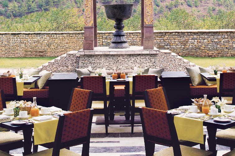 5 star Multi-Cuisine Restaurant at Taj Tashi, Timphu, Bhutan