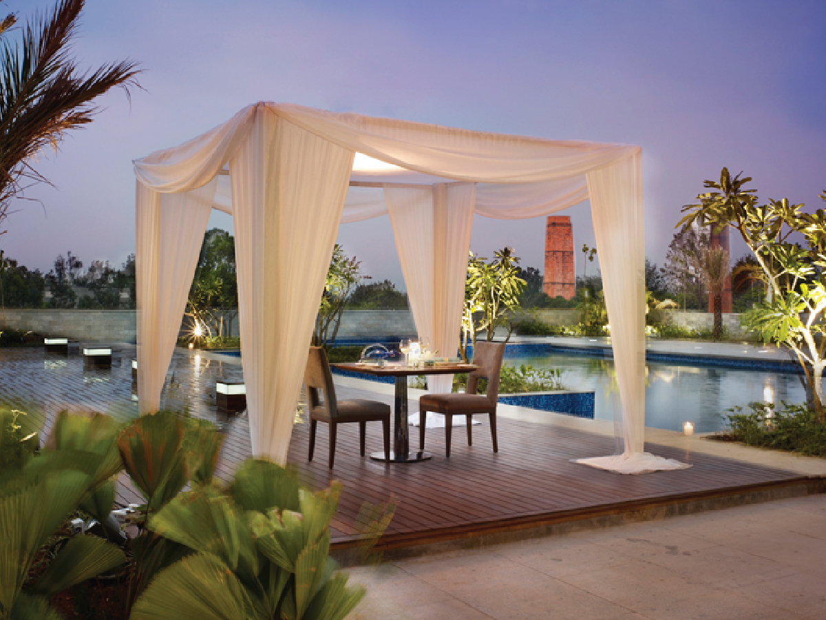 Experience the Luxury Private Dining by the Pool at Taj Yeshwantpur - 4x3