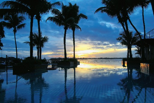 Exotic View from Pool at Taj Malabar Resort & Spa, Cochin