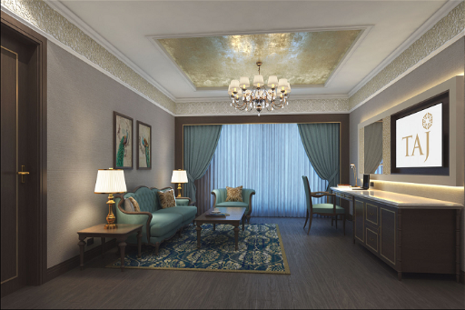 Luxury Suite Living Room at Taj Skyline, Ahmedabad