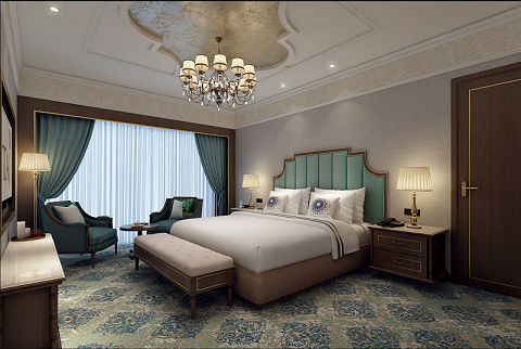 Luxury Suite Bedroom at Taj Skyline, Ahmedabad