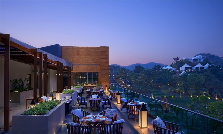 Ridgeview Restaurant at Taj Aravali Resort & Spa, Udaipur