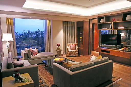 Presidential Suite Living Room at Taj Bangalore