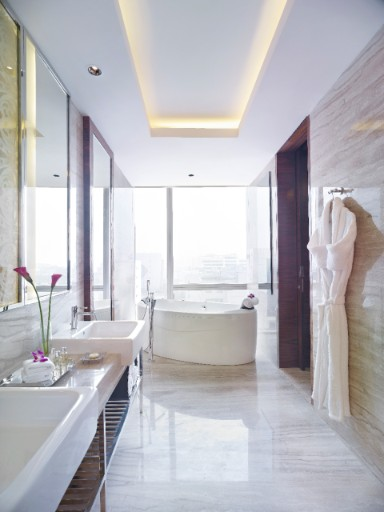 Luxury Bathroom in Executive Suite at Taj City Centre Gurugram