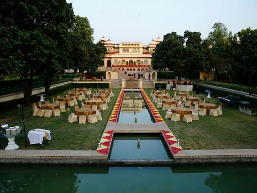 Suken Lawns at Rambagh Palace, Jaipur