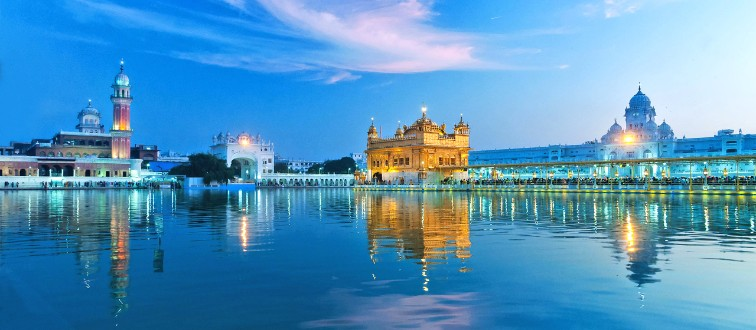 36815714 - golden temple (harmandir sahib also darbar sahib) in the evening at sunset. amritsar. punjab. india