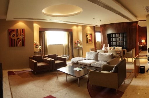 Luxury Suite Living Area at Taj Chandigarh