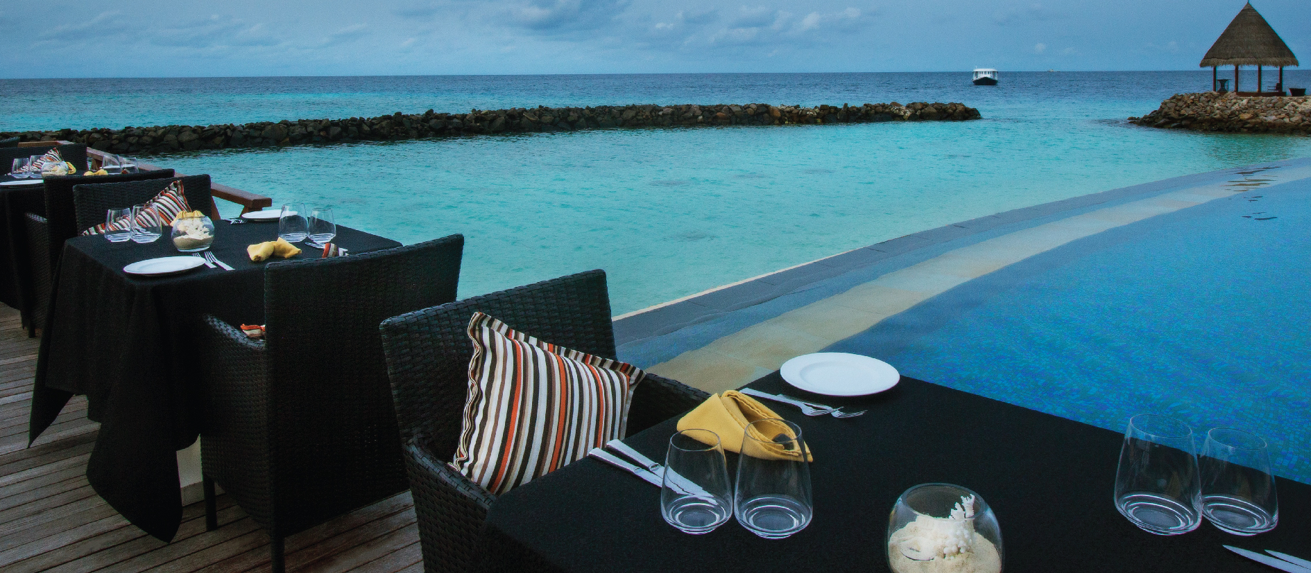 Pool Side Restaurant at Vivanta By Taj Coral Reef, Maldives - 16x7