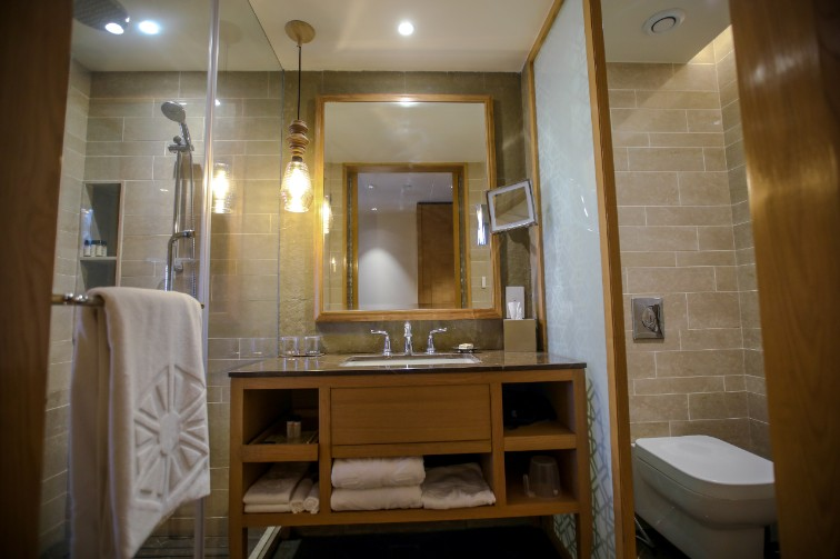 Deluxe Room Bathroom at Taj Fisherman's Cove Resort & Spa, Chennai