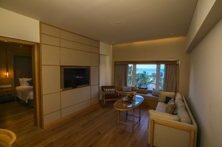 Luxury Suite Sea View Sitting Room at Taj Fisherman's Cove Resort & Spa, Chennai