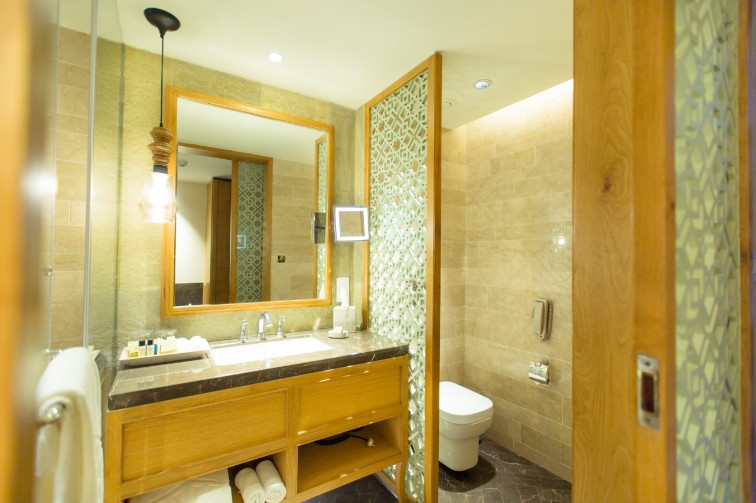 Superior Room Bathroom at Taj Fishermanâ  s Cove Resort & Spa, Chennai