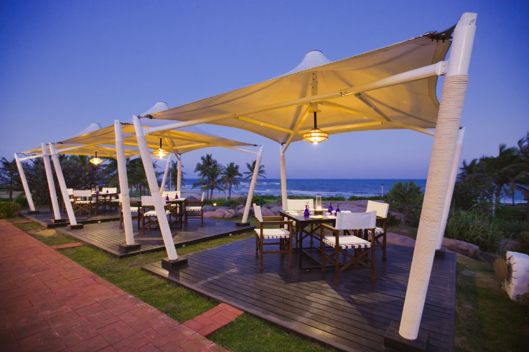 Beachside Dinning Arrangement at Upper Deck Restaurant at Taj Fisherman's Cove Resort & Spa, Chennai