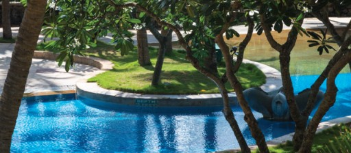 Relax by the poolside at Taj Fishermanâ  s Cove Resort & Spa, Chennai
