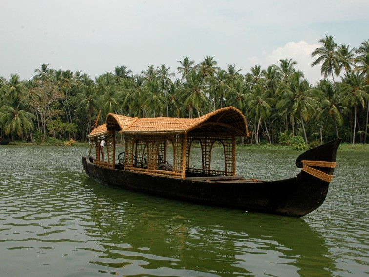 Backwater Boating Activity in Kerala near Ambika Vilas